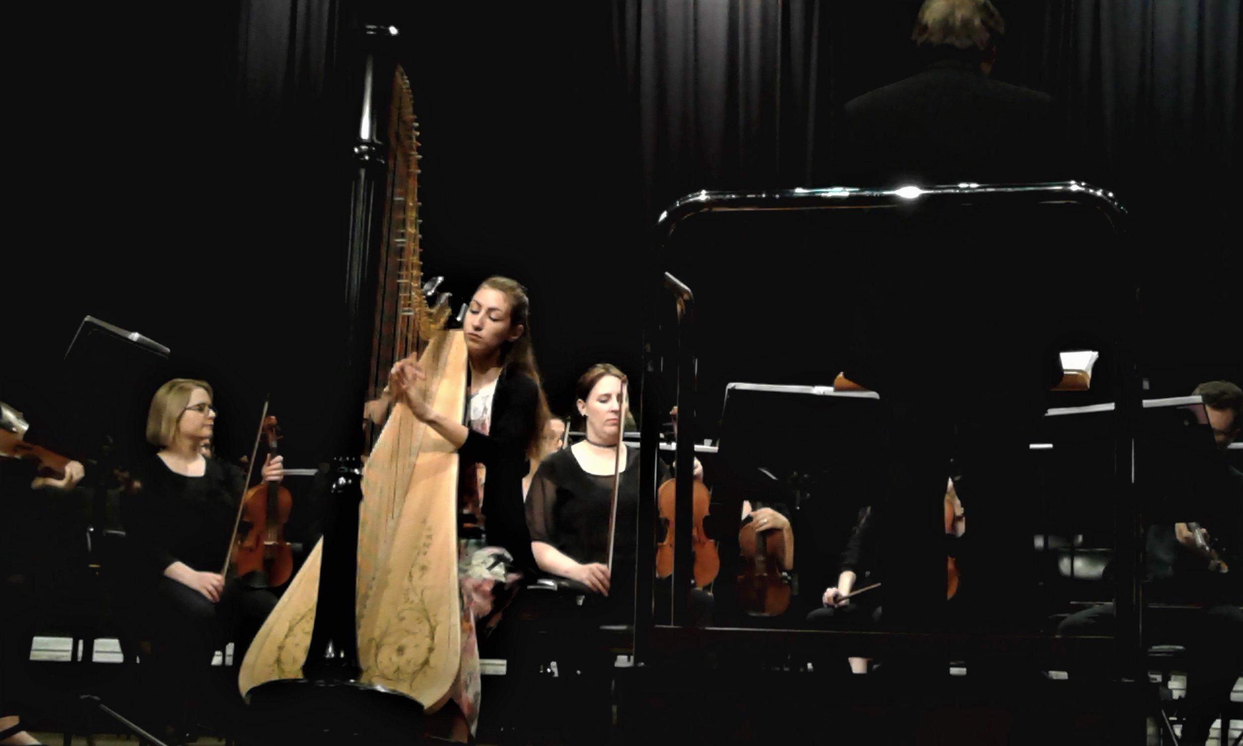 Handel Harp Concerto with Brisbane Philharmonic Orchestra, 2016