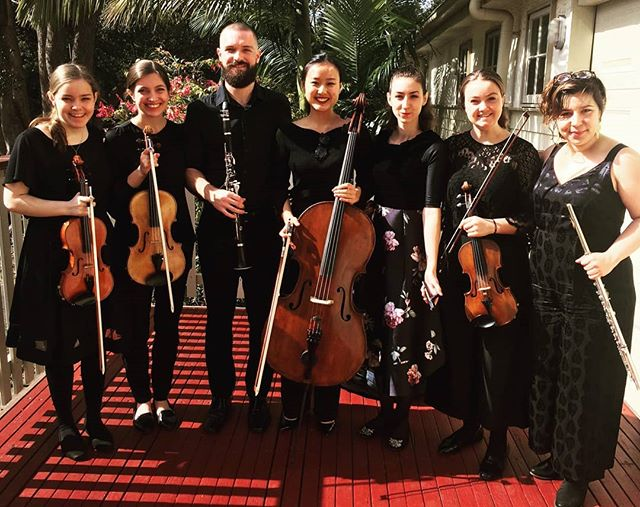 What an amazing bunch to perform with! These and many more talented musicians from the Bangalow Music Festival Orchestra have been an absolute blast to play with!  #bangalowmusicfestival #nextgenerationartists #southerncrosssoloists #harpist #ravelintroductionandallegro #practicalharpist #lyonandhealyharps #whenyoucantholdyourharpholdthetuningkey