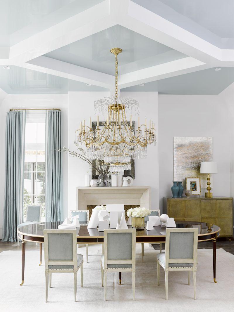 Chattanooga interior designer painted ceiling