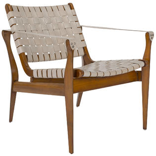 Leather woven occasional chairs. Easy care + comfy + so good looking!