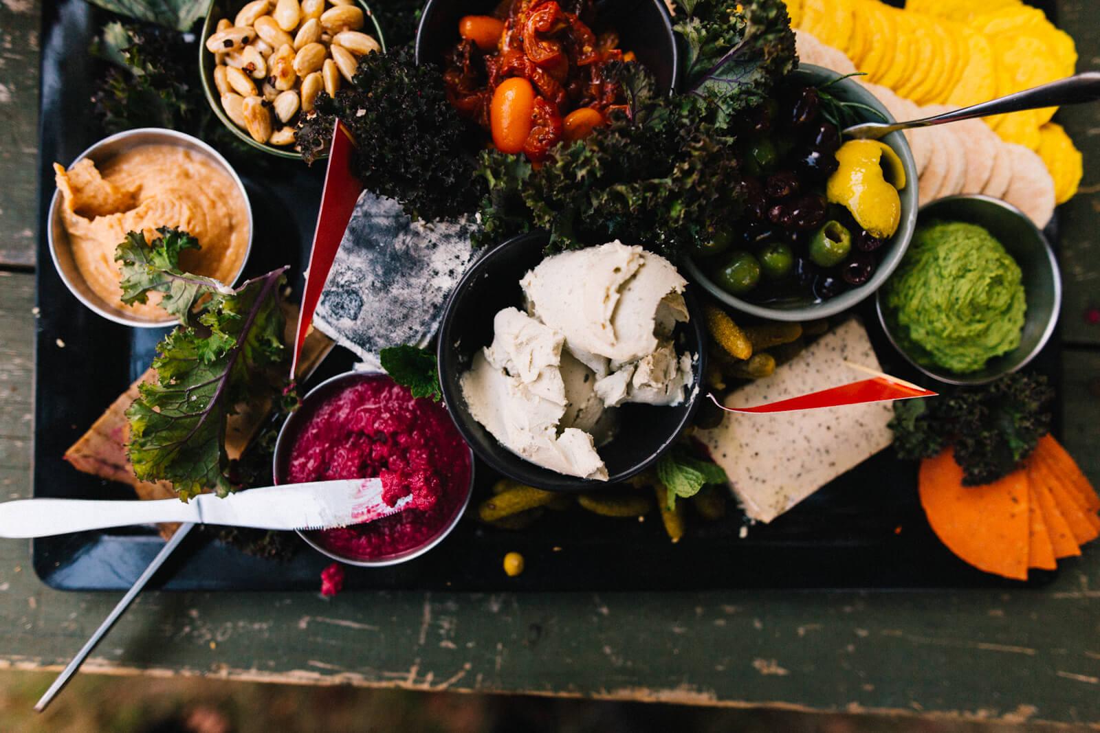 vegan grazing platters