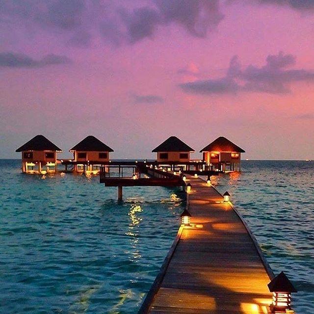Honeymoon ideas, view from Maldives! Can you image this? That sky is just a dream . ✨🌴💜🌊💫 . . 📸: @ellchintya . Repost @honeymoonreviews . . . #dreamy #honeymoon #ido #weddings #dreamhoneymoon #oceanviews #proposal #weddinginspo #brides #inspiration #weddingplanning #travel #magichour #photosinbetween #seekthesimplicity #honeymoonspots #dreamproposals #letsgetmarried #tietheknot #gethitched #allofthelights #loveit #romanticgetaways #bridalgoals #getdownononeknee #loveyou #itwasalladream  #weddingideas #indianweddingbuzz #putaringonit