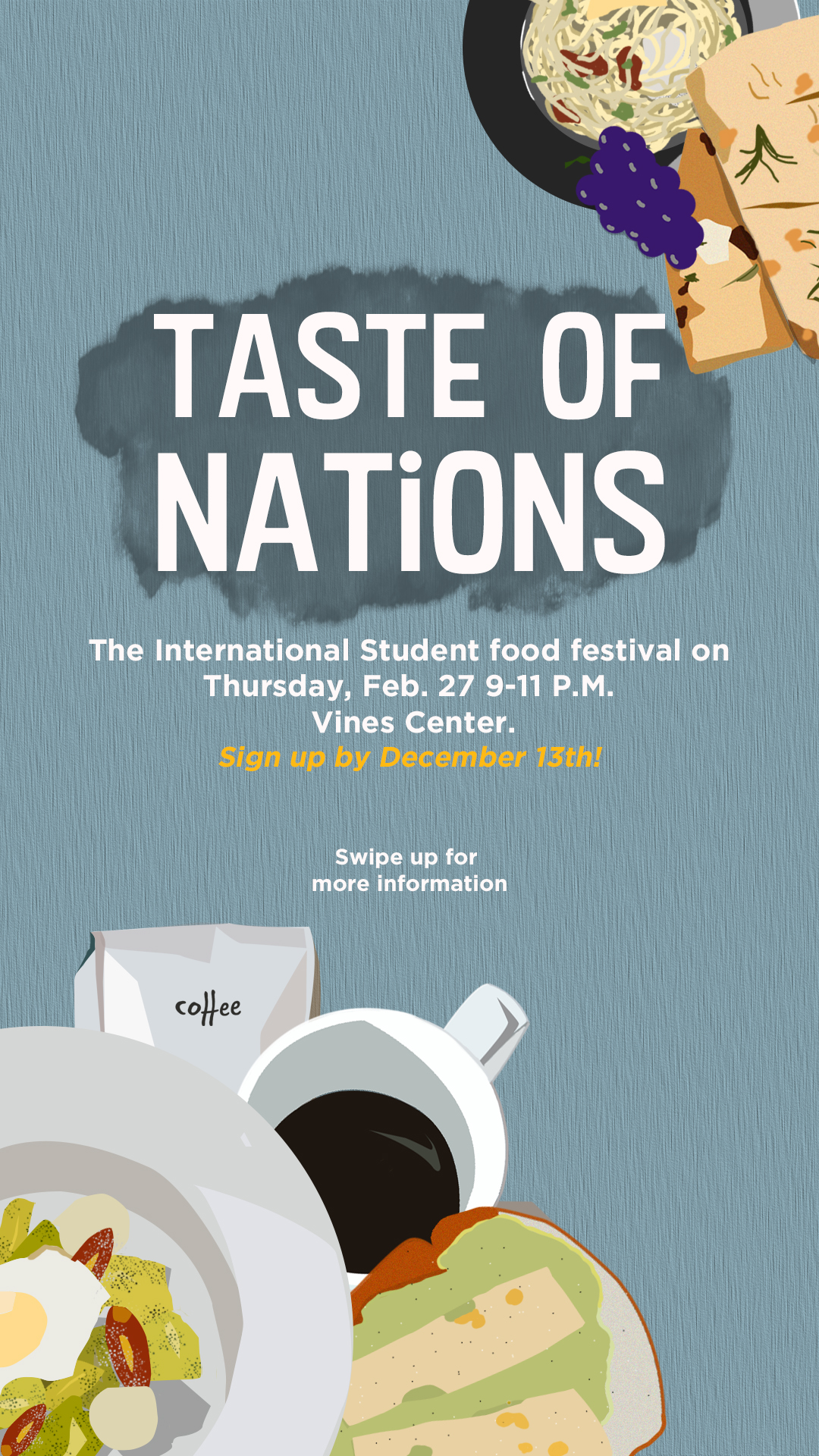 International Foods Event for LU Send