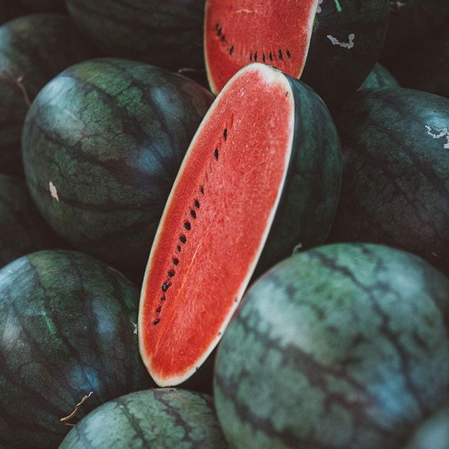 Finding some vibrant delicious fruits on the market 🍉