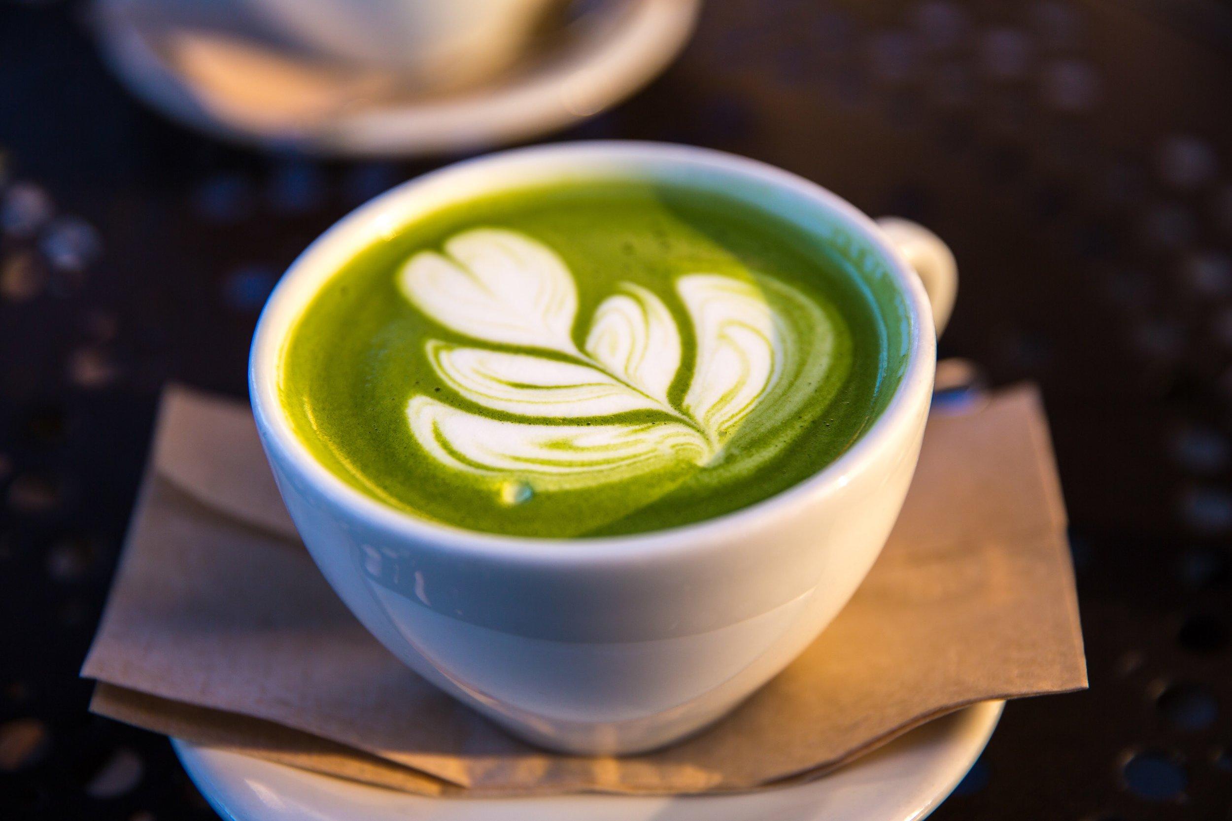 Recipe: Matcha Latte - it's sweet enough...serves 1