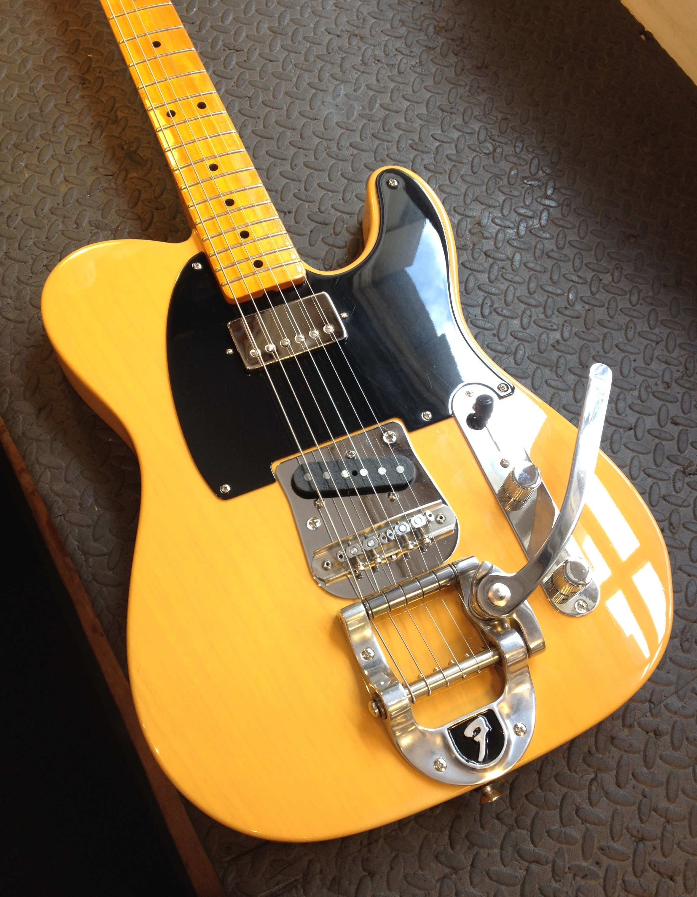 Well it was a custom shop '52 Telecaster but after extensive modification it is truly something individual!