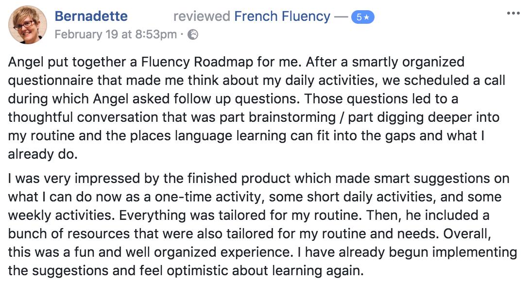 Learn French Angel Pretot Roadmap to Fluency testimonial - Bernadette.png