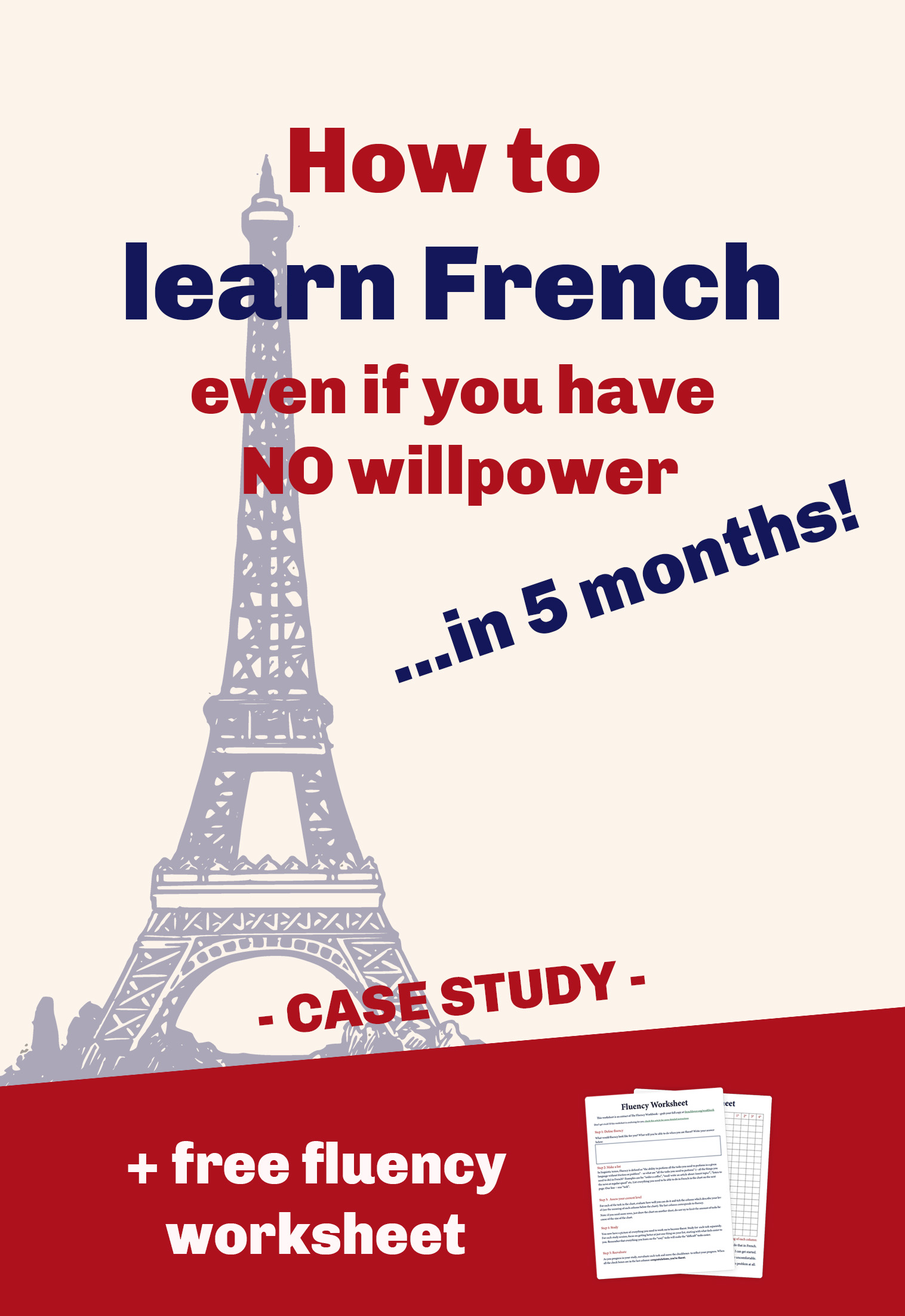 This French student shares his French learning journey. Can you learn French to fluency in 5 months with no willpower? Well he did it. Click through to find out how he could remember French vocabulary and French grammar easily and converse with French natives without even realizing. And the best is: the French learning system he used is also available to you. Save and share this pin so others can benefit as well.  #learnfrench #frenchlearning #frenchvocabulary #frenchgrammar #frenchstudy