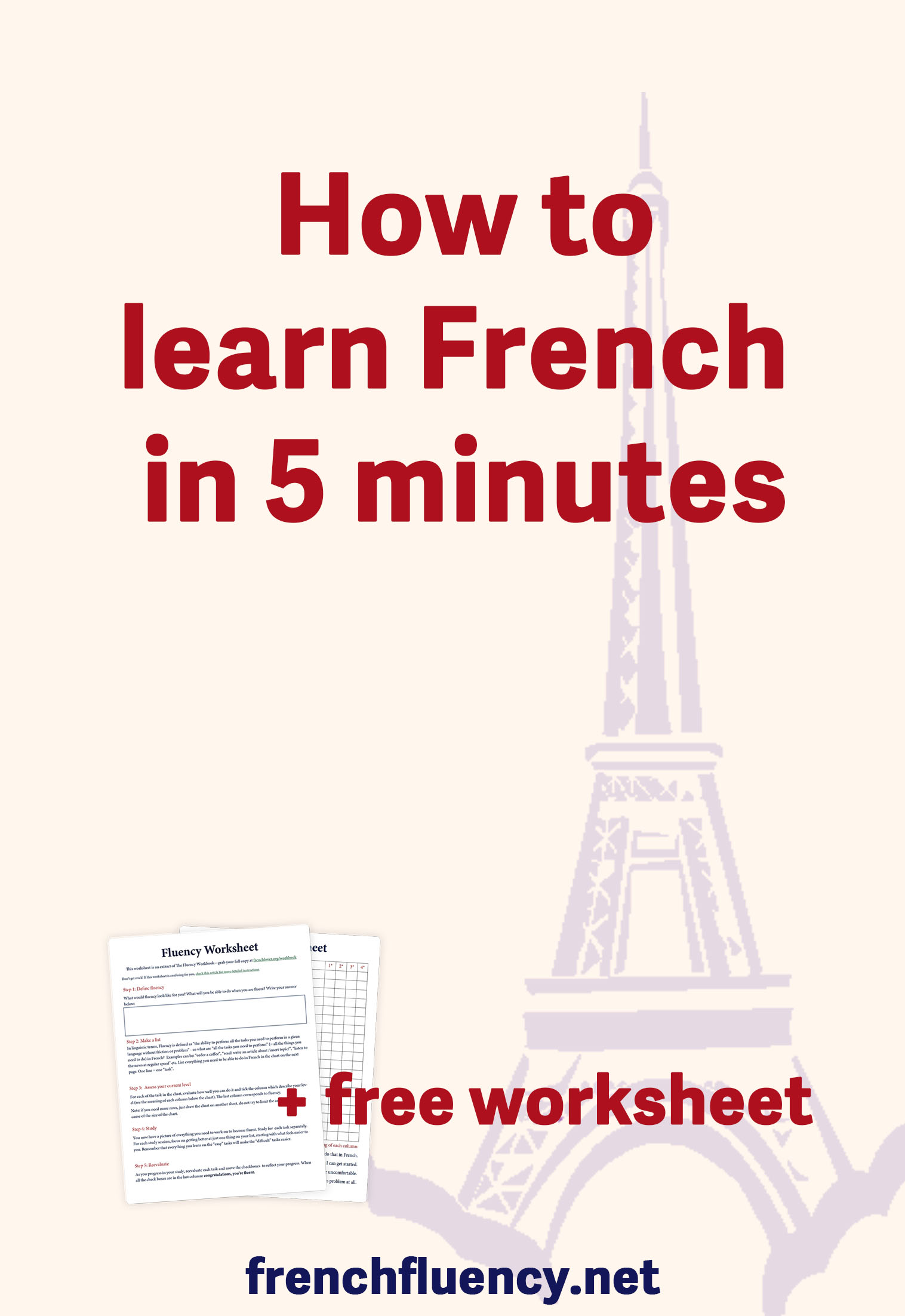Learn French in just five minutes a day. This simple French learning habit will multiply your progress. In just five minutes a day, you will be able to remember your vocabulary and speak fluent French fast.  #learnfrench #frenchlearning #LearnFrenchFast #fluentfrench #frenchvocabulary #frenchgrammar