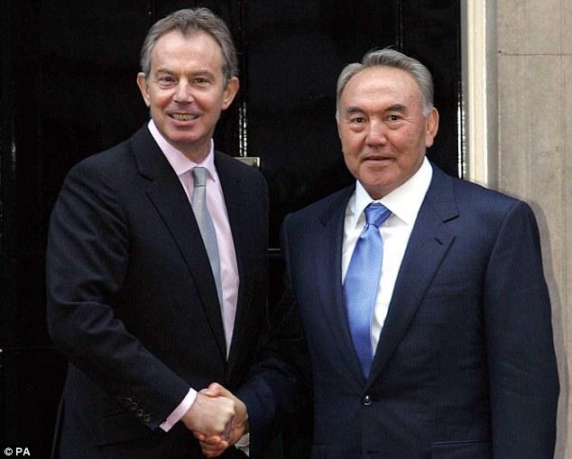 Mr Blair and Mr Nazarbayev.