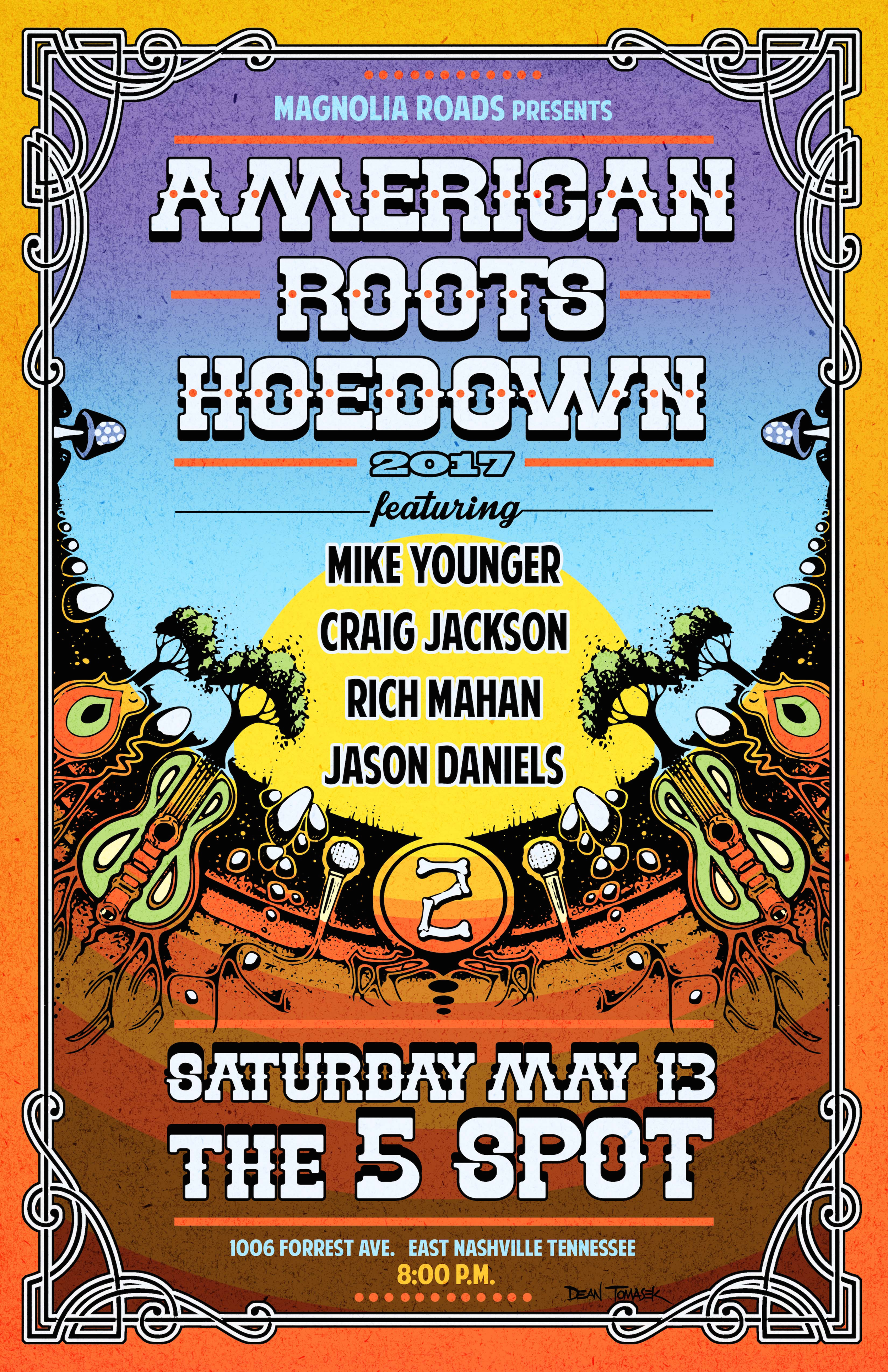 American Roots Hoedown 2017 5 spot Nashville poster .png