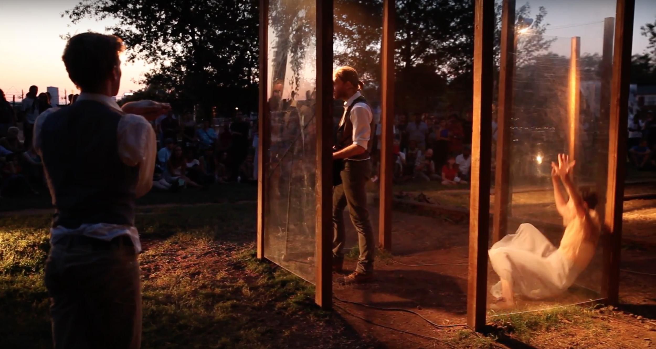 Prism Study #1 - Wood, light, sound and Plexiglass on Atlanta's Beltline.