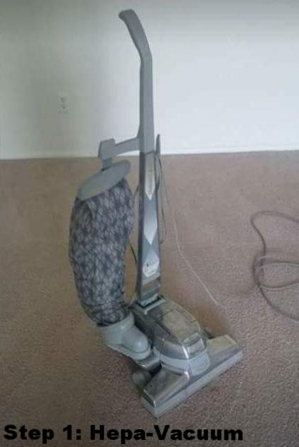 Step 1: Hepa-Vacuum