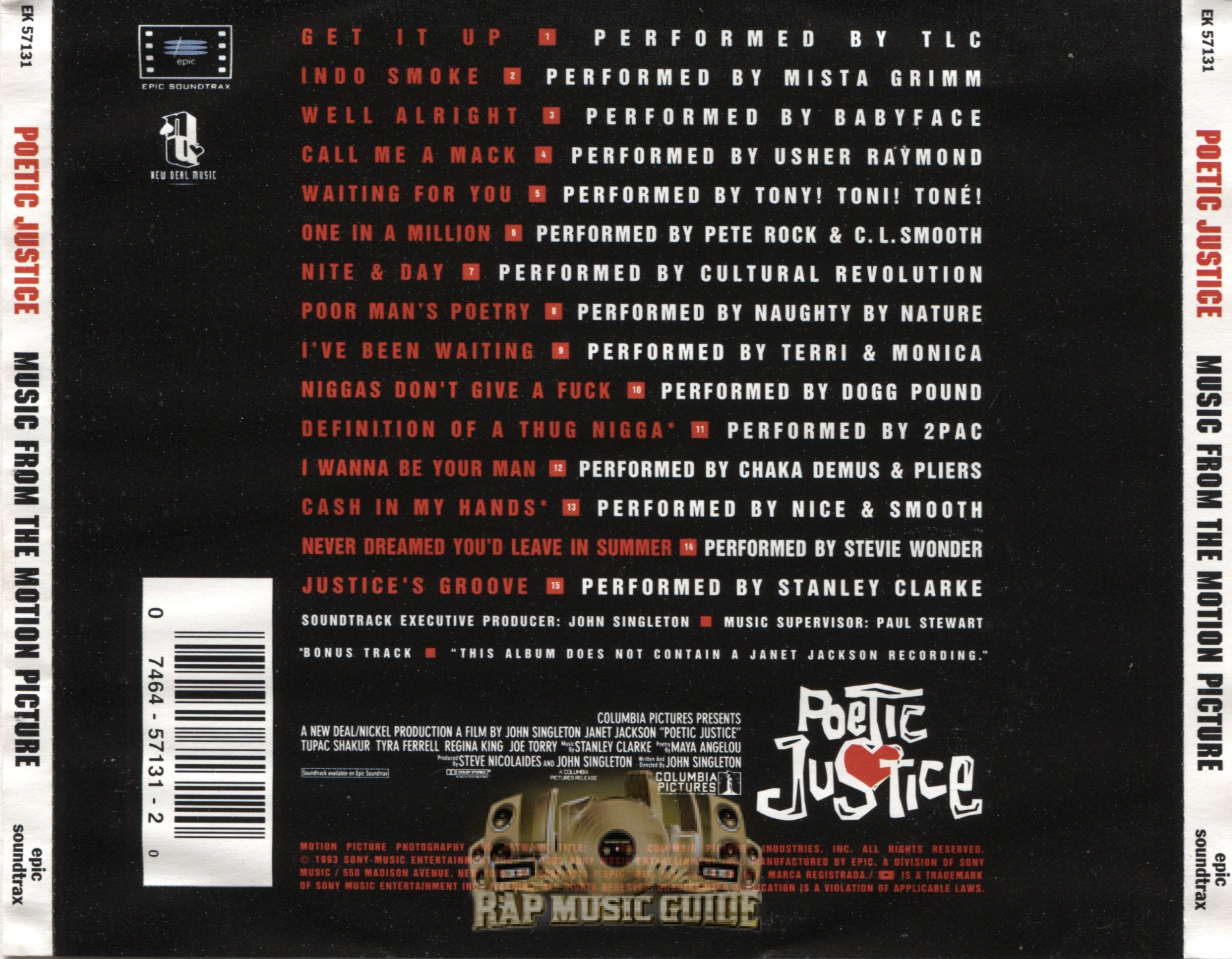 Poetic Justice - Soundtrack rear.jpg