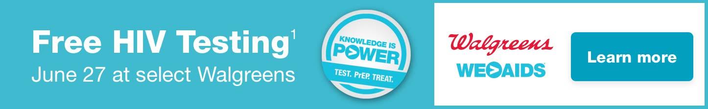 FREE HIV TESTING WALGREENS