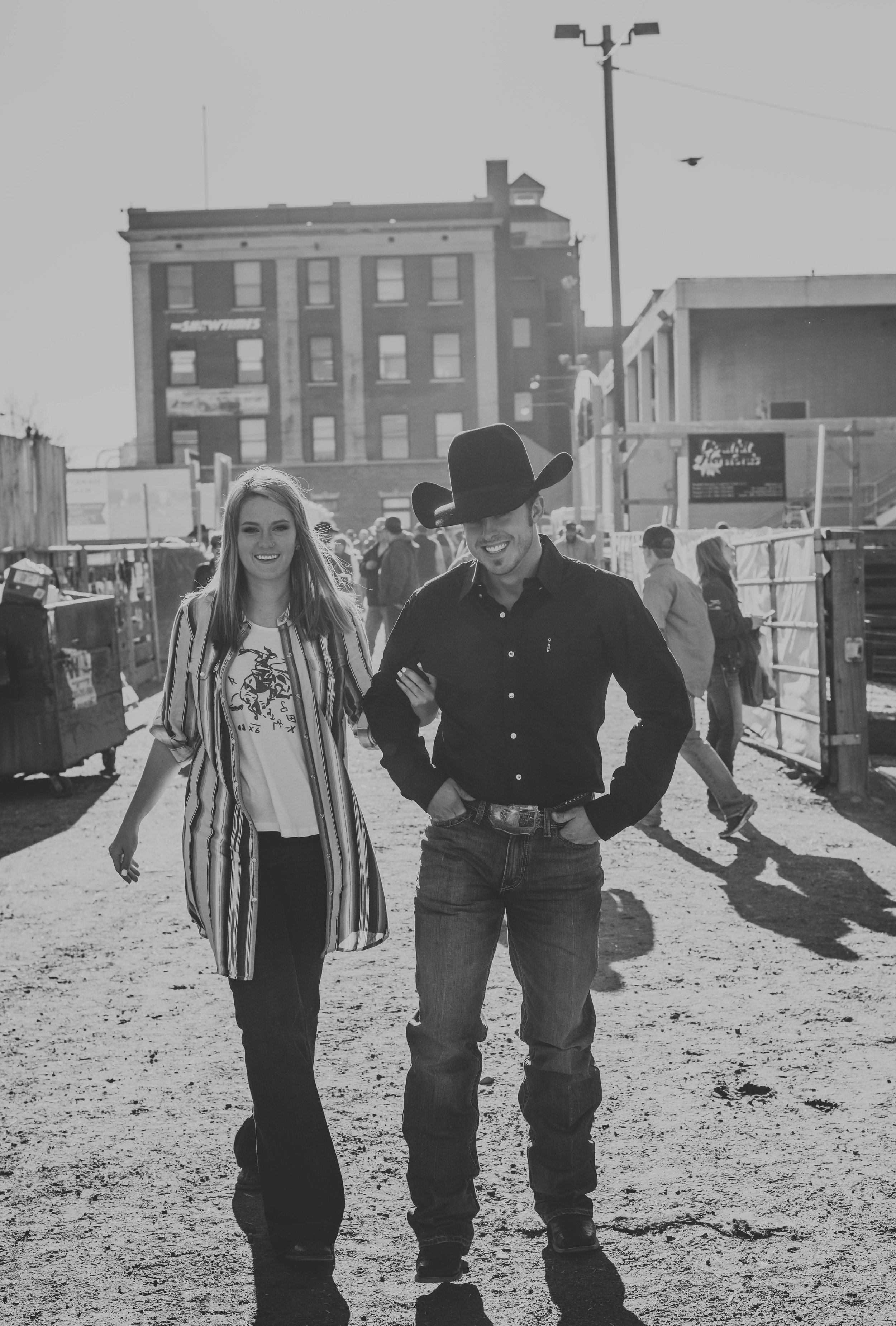 Well, lucky thing for you non believers out there, I have found the perfect example of two people who were MADE FOR EACHOTHER. This is Jamie and Jesse, they share a love for rodeo, cattle and being completely head over heels in love with one another.