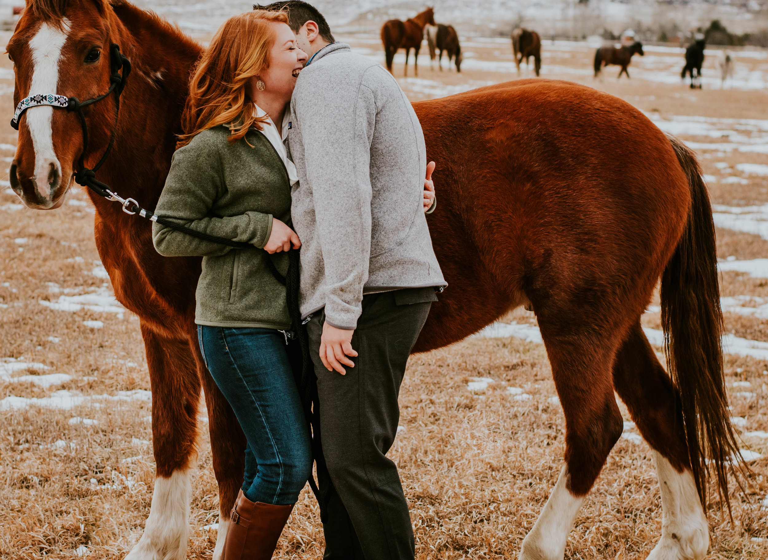 Miss. Miller's Photography | Candid Engagement Photos | Engagement Photos with Horses