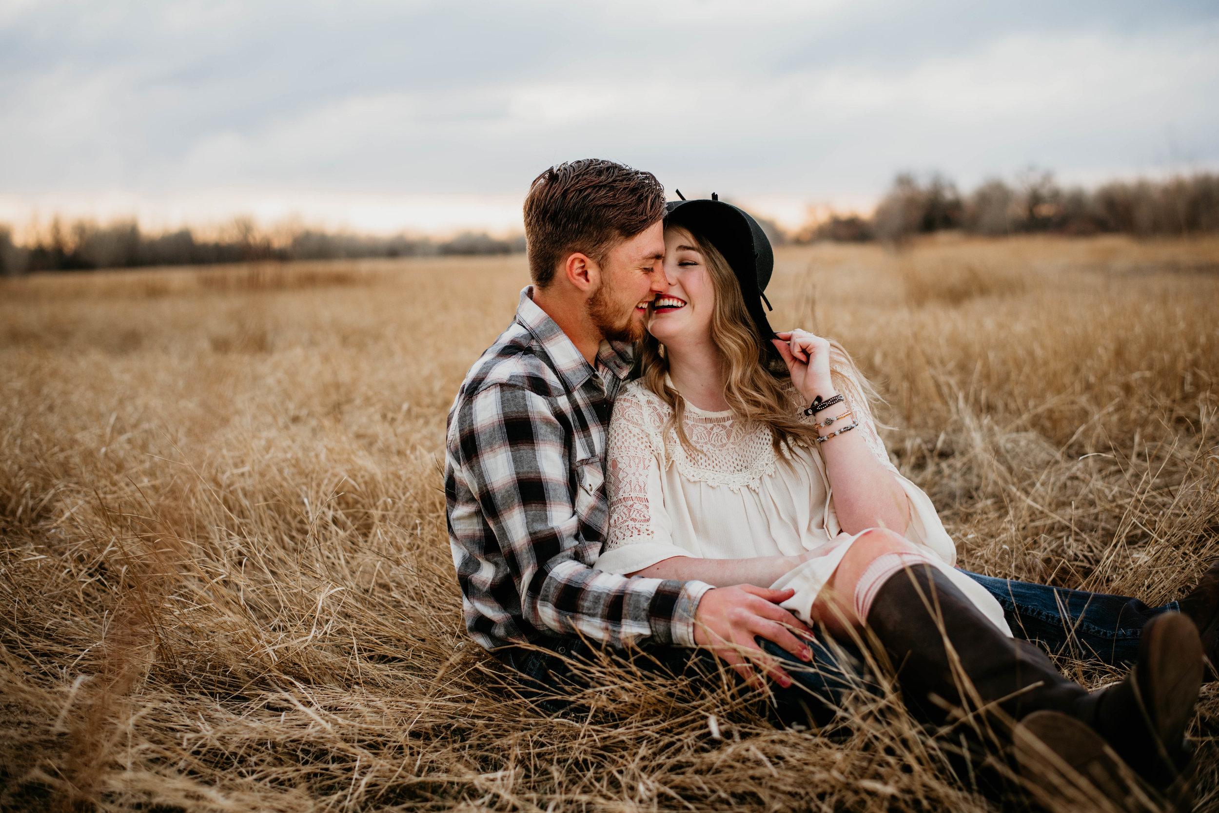 Miss. Miller's Photography | Colorado Wedding Photographer | Colorado engagement photographer | Colorado couples photographer | Couples sitting down pose ideas
