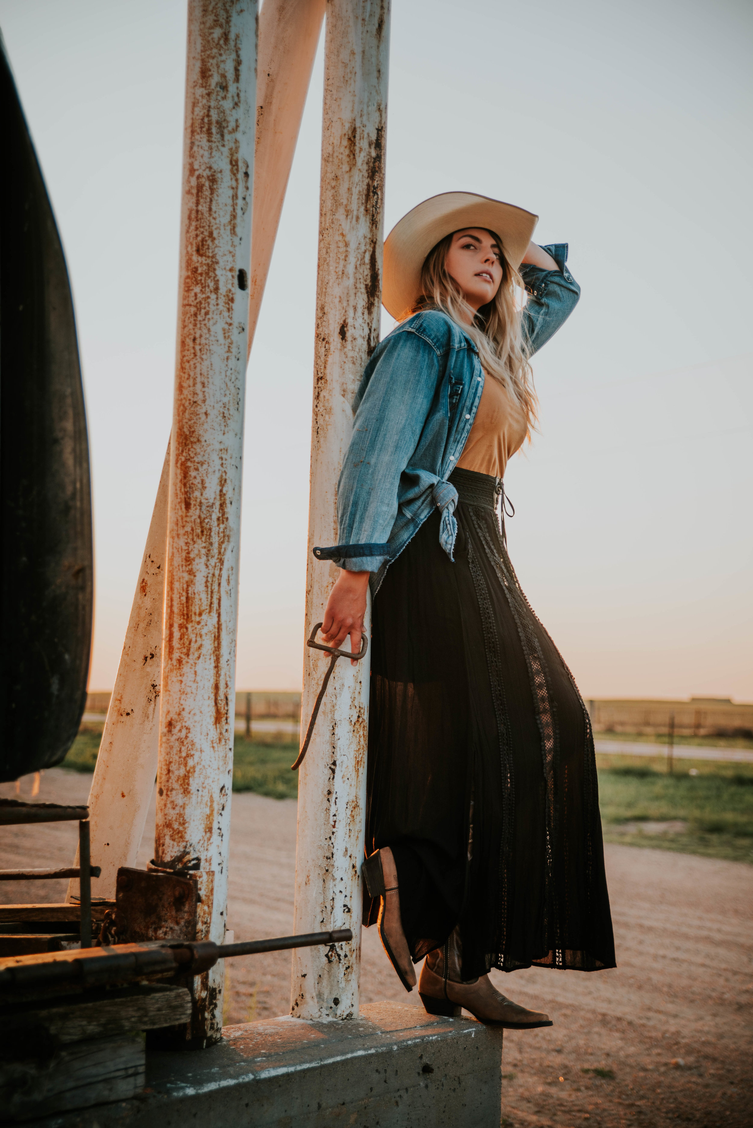 Miss. Miller's Photography | Colorado Photographer | Montana Photographer | Western Style | Western Photoshoot ideas | Western ideas | western pictures ideas | black skirt | brown cowgirl boots | Western Fashion Boots | Durango Dream Catcher