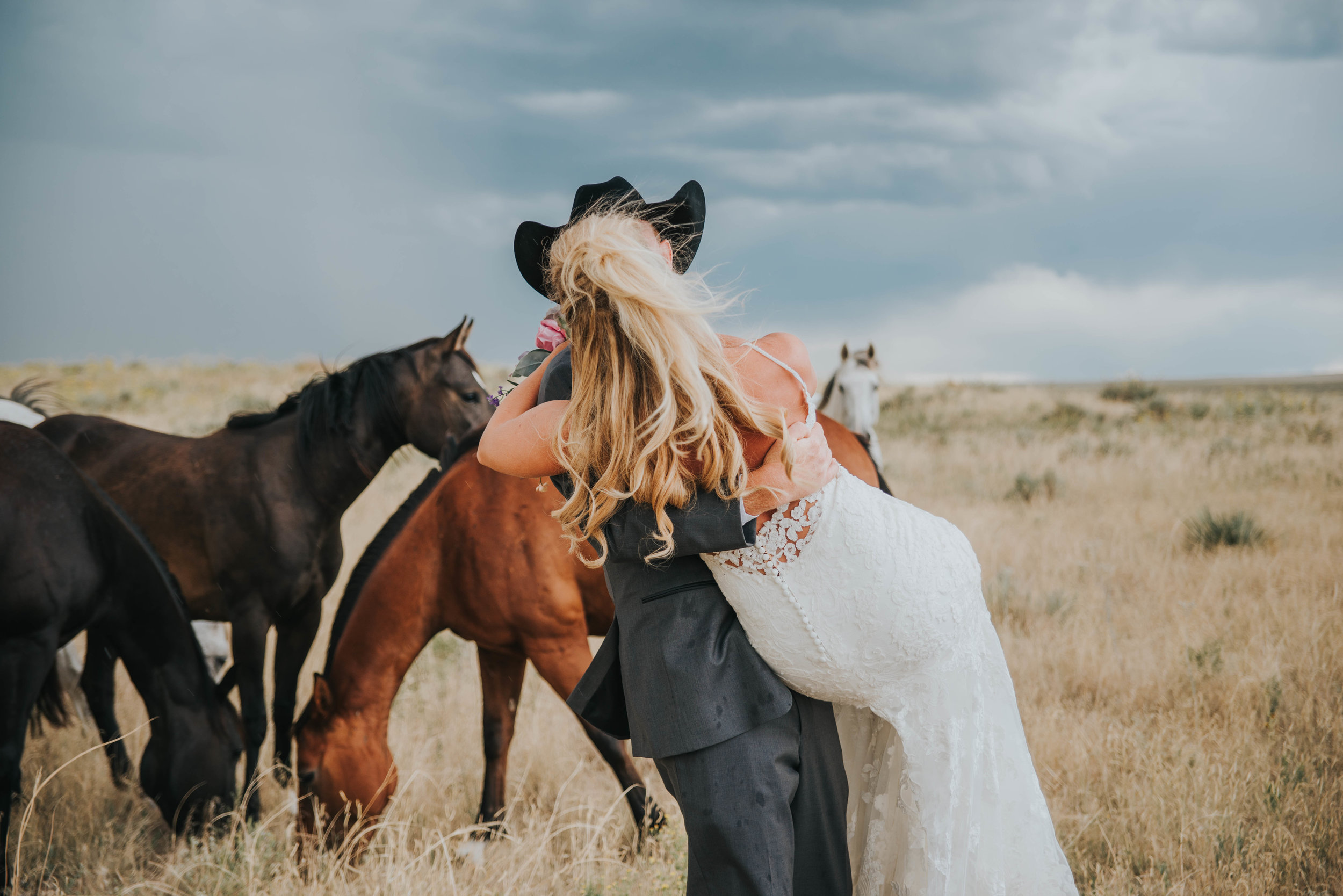 Mr. and Mrs. Hermes! Oh… and a few of their favorite ranch hands!