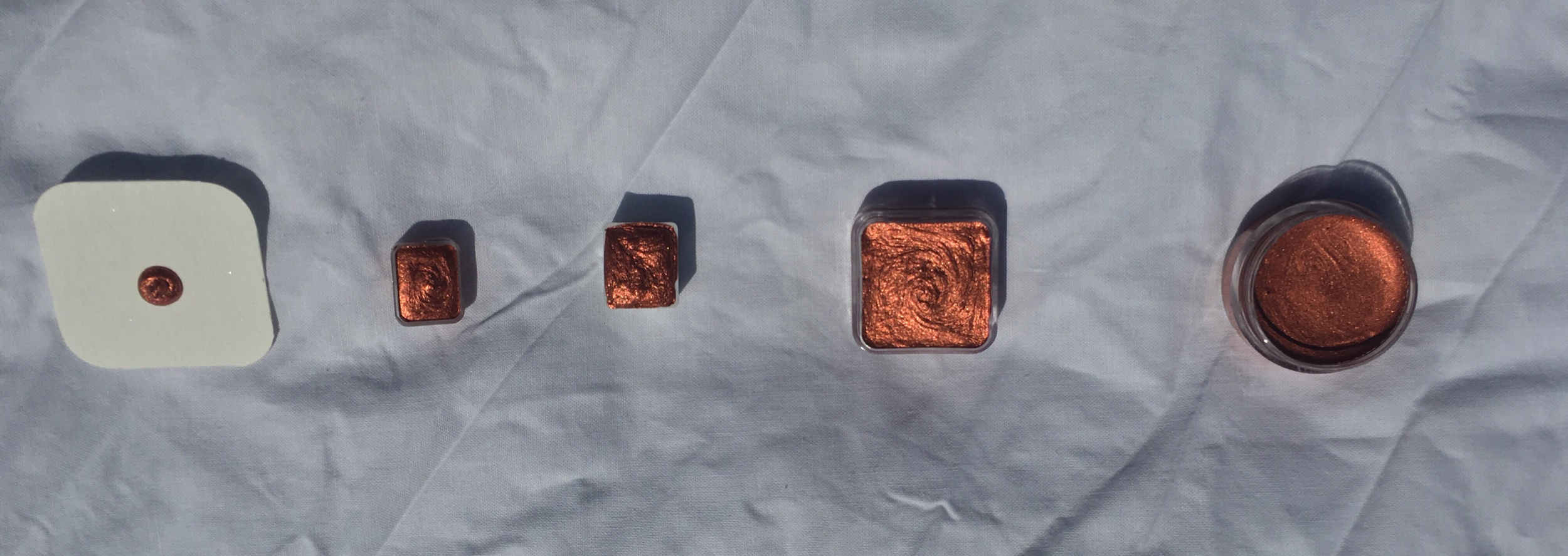 copper mica watercolors