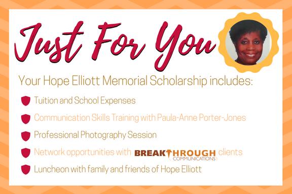 Hope Elliott Scholarship Details