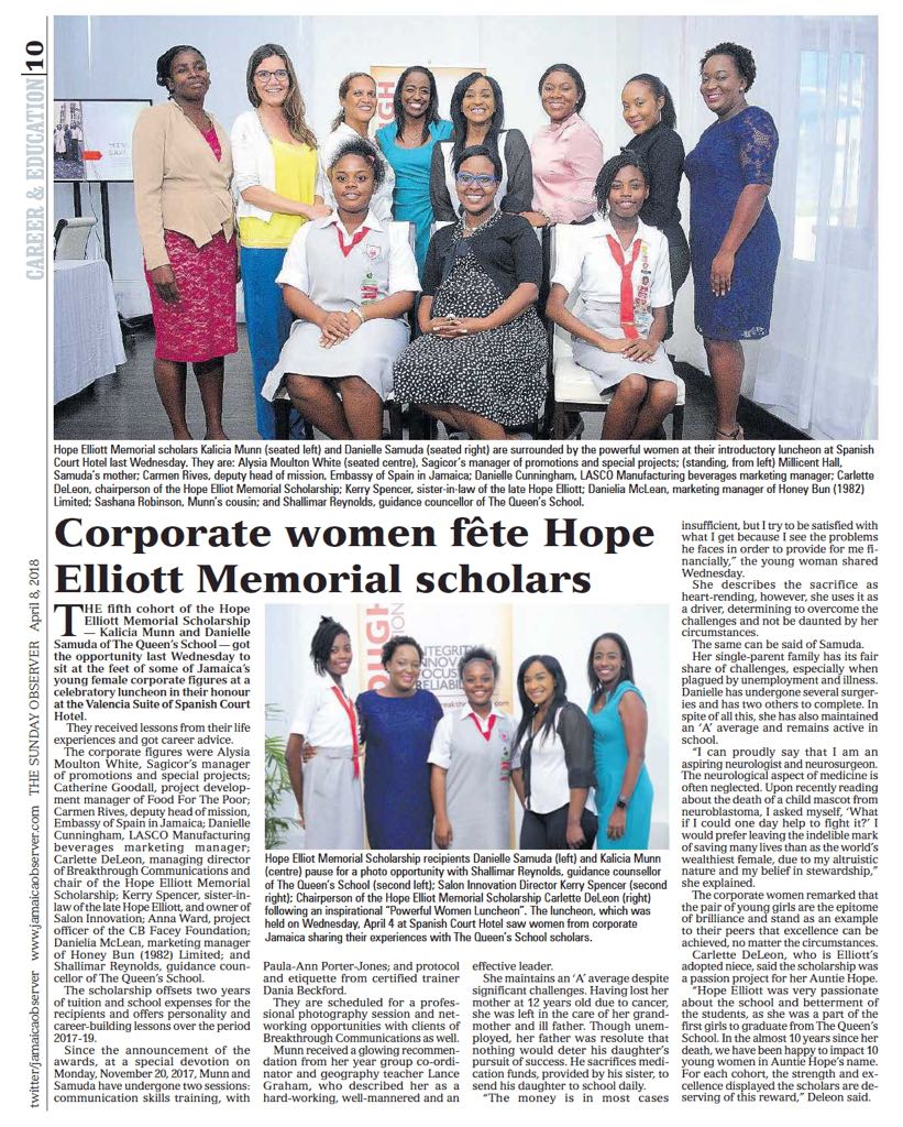 Observer Career & Education - Corporate Women Fete Hope Elliott Memorial Scholars.jpeg