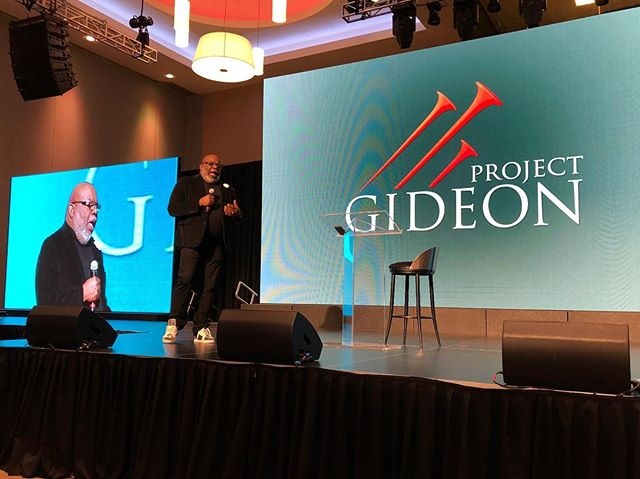 """Opportunities are always on stopwatch."" Listening to the GOAT today! @bishopjakes #projectgideon2018"