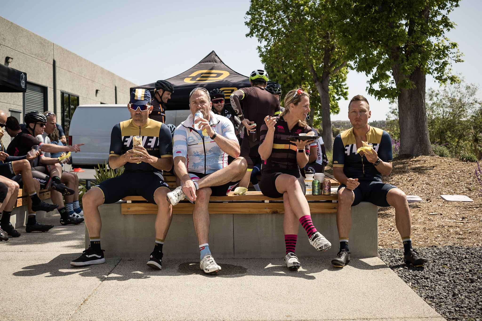 Brandt Furgerson of Eliel Cycling and friends enjoying some of that BBR good good.