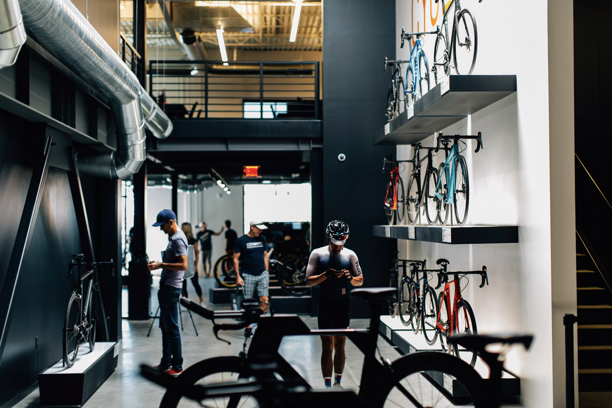 The Canyon US Showroom is one of only 2 in the world where riders enjoyed browsing the German engineered bicycles during the weekend's expo.