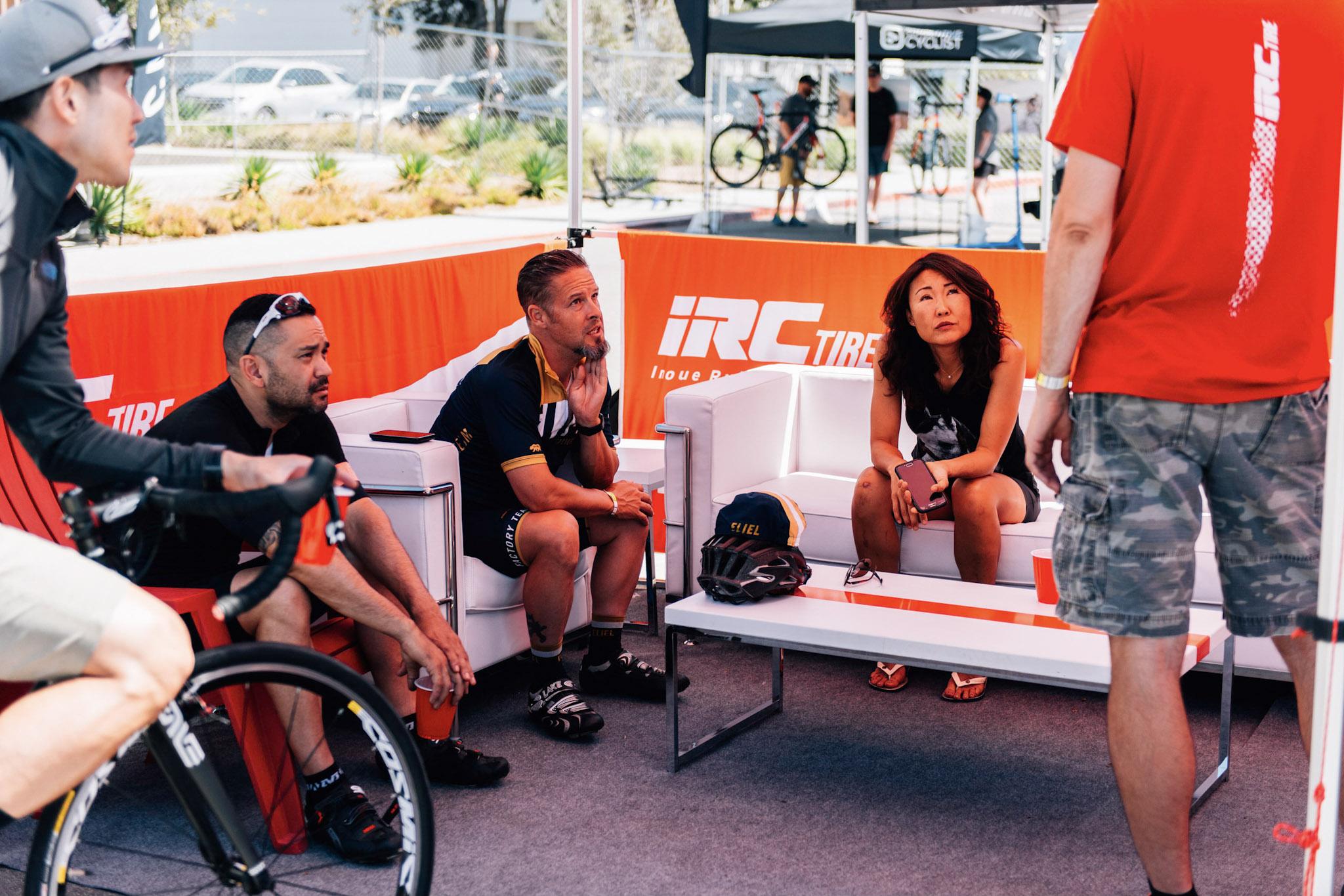 Marc Chilcote, an Eliel Factory Team rider,rethinking his use of a Focus Ravan MTB on race day.
