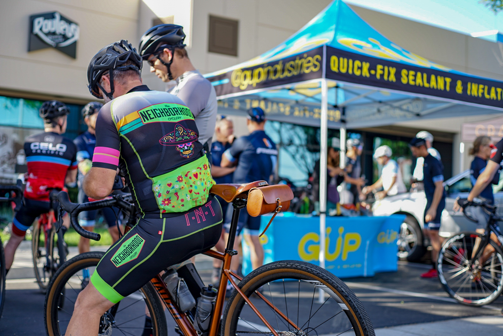 Gup Industries, one of our many sponsors, hosted the check-in and nutrition table. PC: Tony Brand