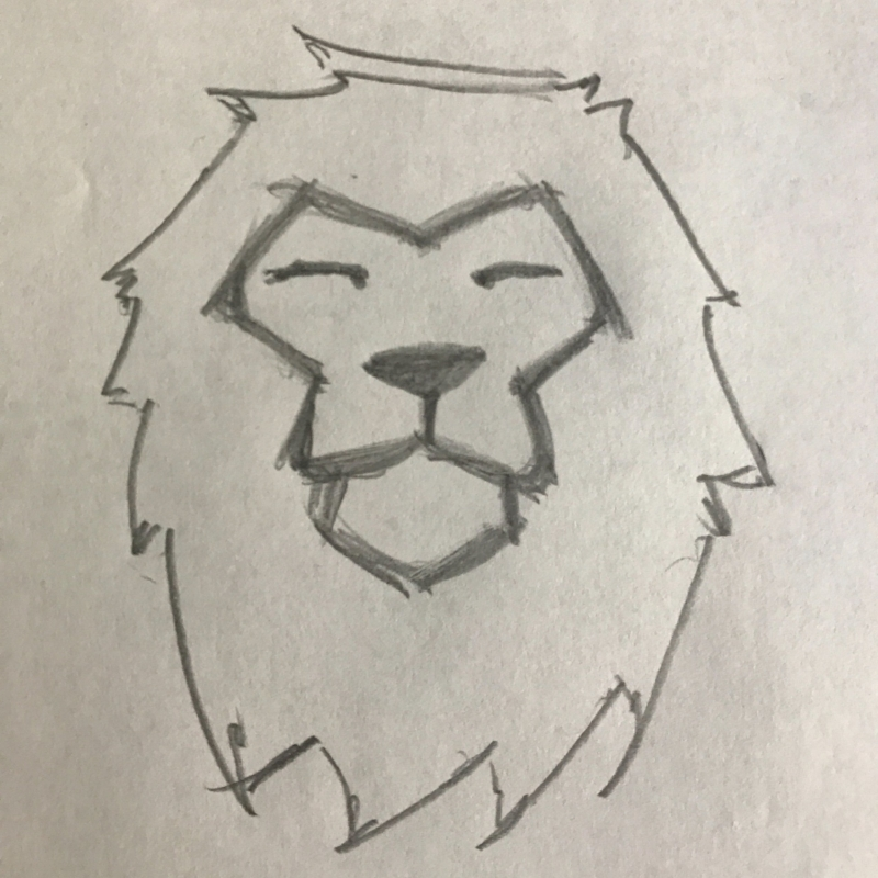 gravelstoke lion sketch.JPG