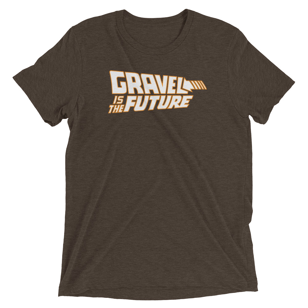 Gravel is the Future tee - BROWN TRIBLEND $30