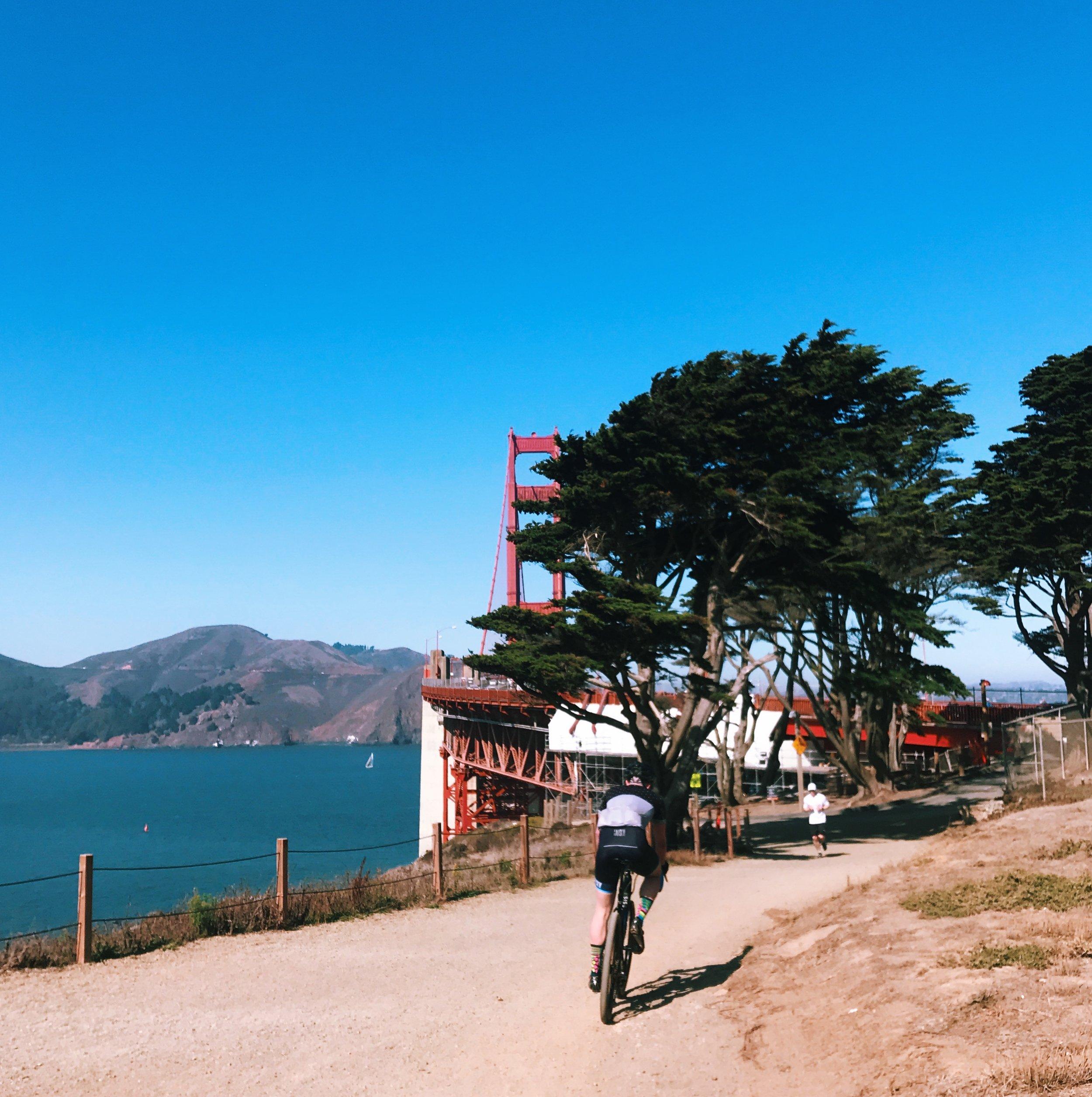 Thesis gravel bike Golden Gate Bridge