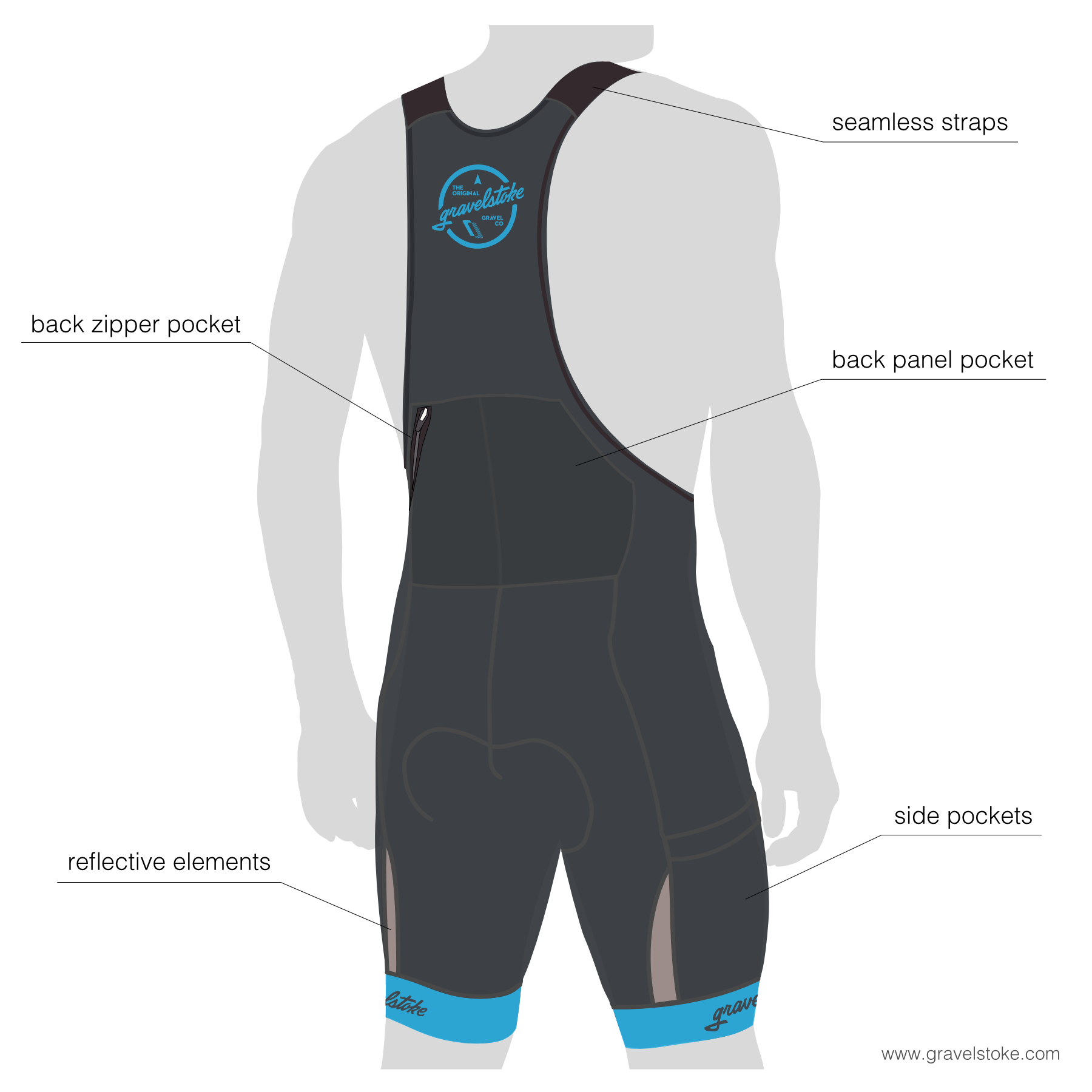 Men's Team Cargo Bib Shorts