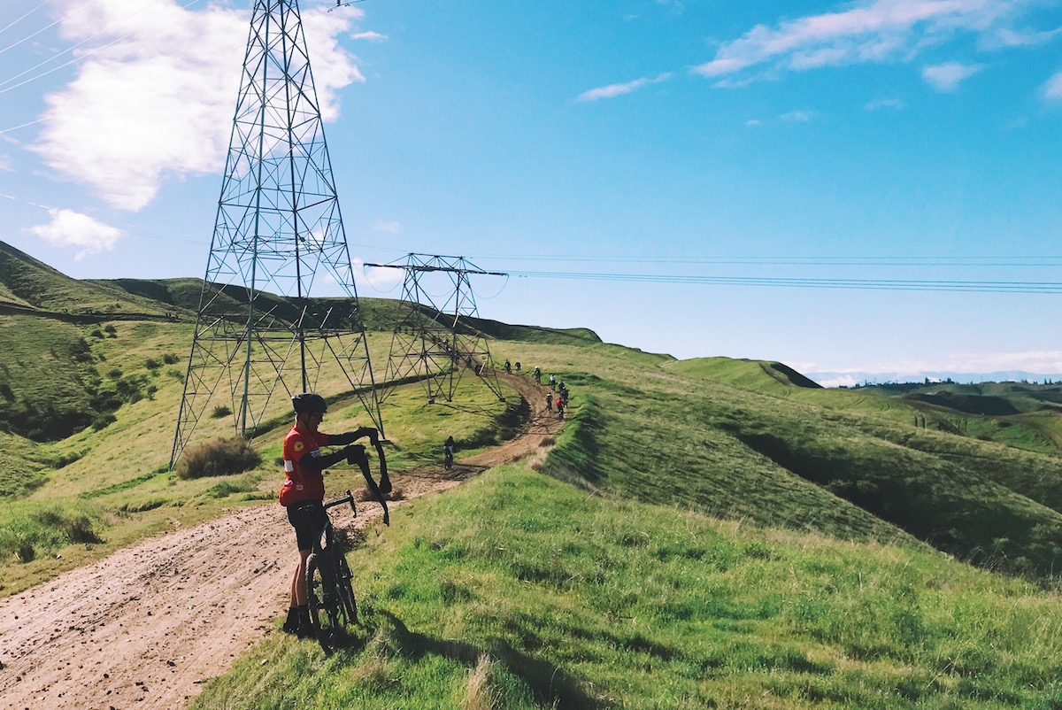 As the day rolled on, warmer temps had riders peeling layers