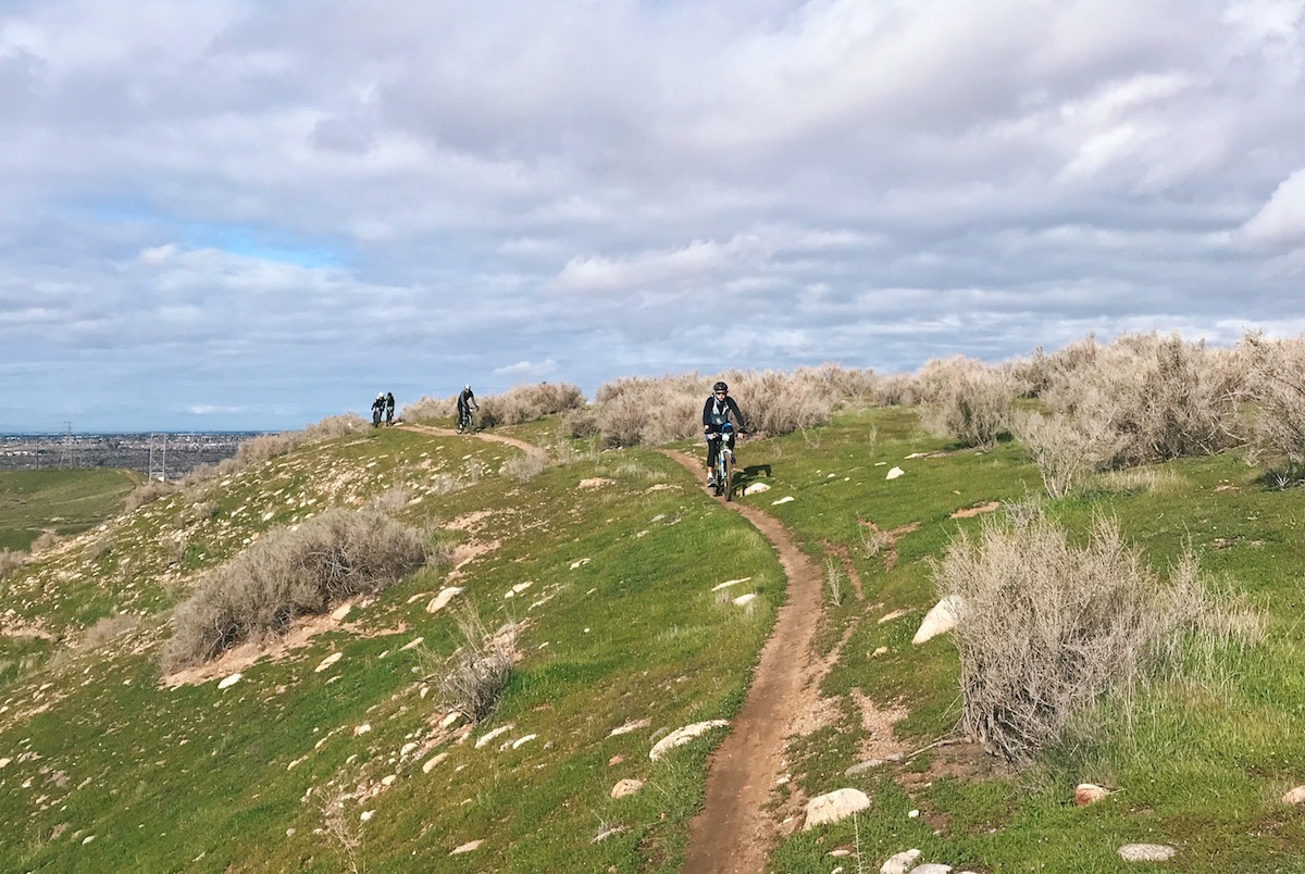 A final push to the finish led to more singletrack with 17 miles to go