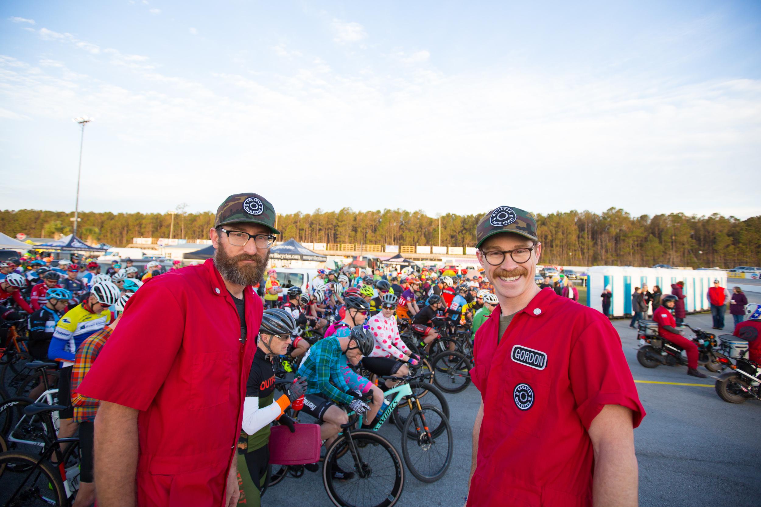 Croatan Buck Fifty race directors Matt Hawkins and Gordon Wadsworth. PC: Jack Looney