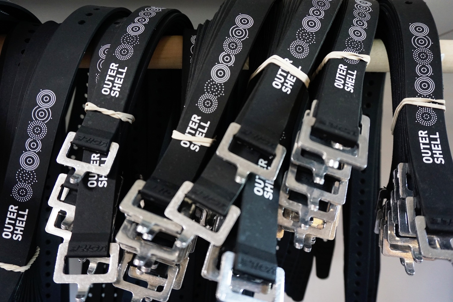 Logo Voilé Straps come in three sizes and are great for securing larger items like a sleeping bag, tent, or stuff sack