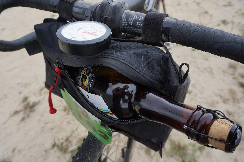 The Bike Bag on our Belgian Waffle Ride race bike
