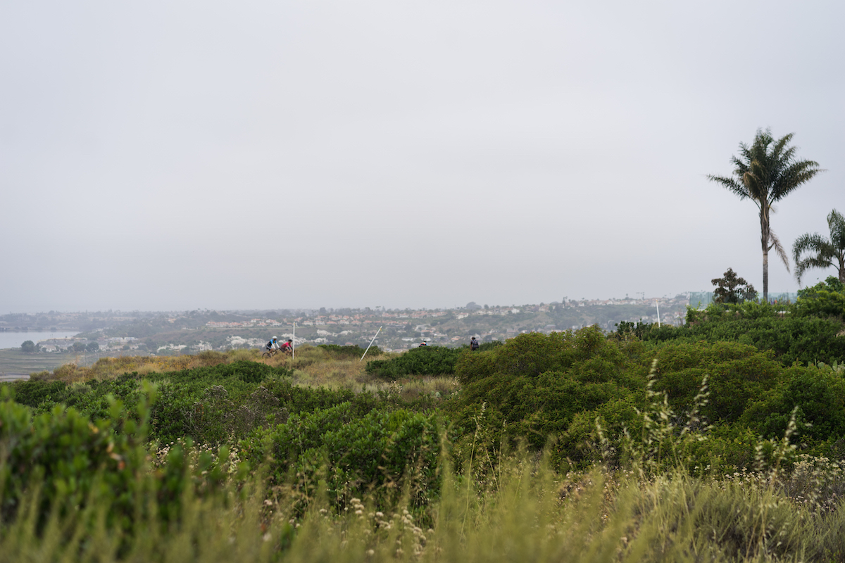 Sweeping views of the North County coastline were enjoyed from Veterans Memorial Park