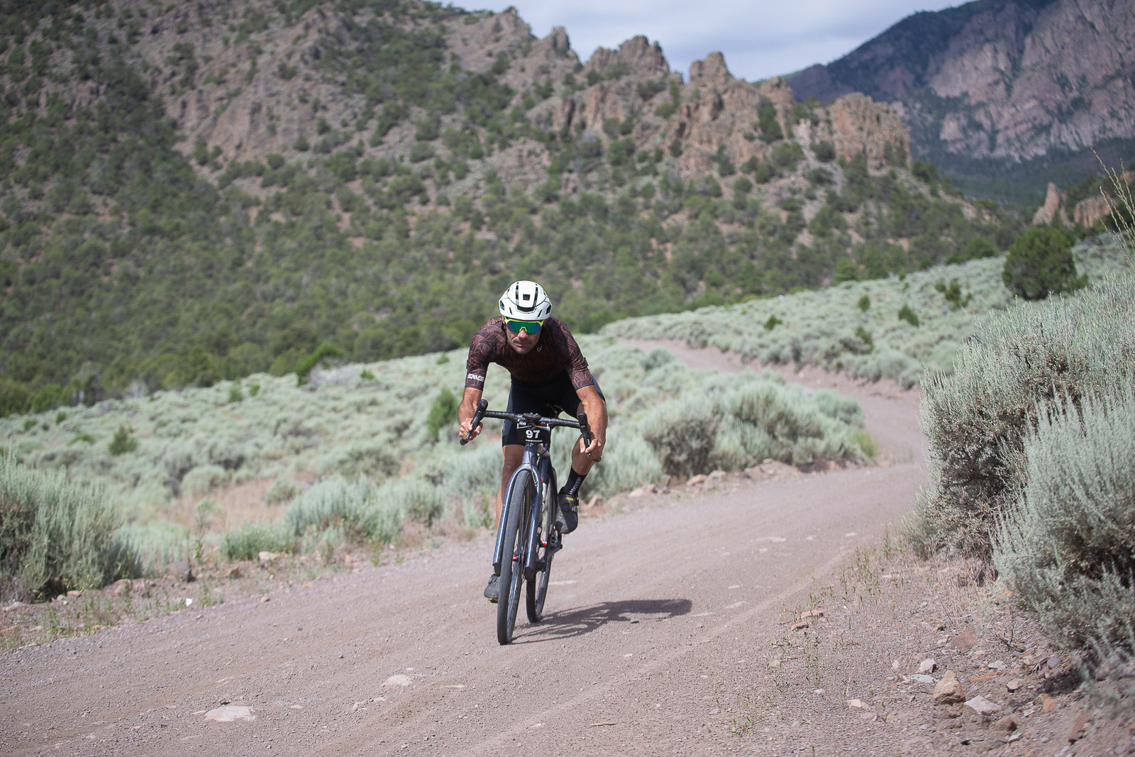 Neil Shirley, who placed 14th overall, here slinging that new   ENVE x Velocio kit  . PC: Catherine Fegan-Kim