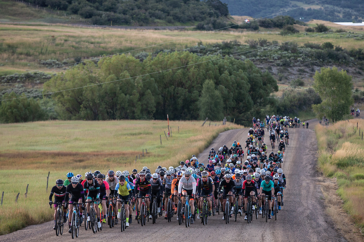 Given the nature of the local terrain, including wide roads and smooth gravel, more eager athletes would find it difficult to break free from the large peloton until later in the race. PC: Wil Matthews