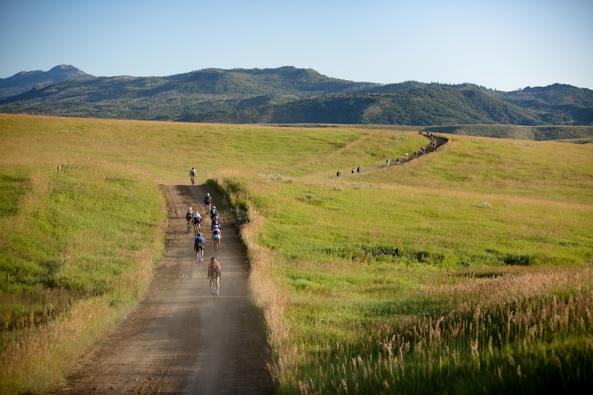 A 100 mile Blue course and a 40 mile Green course made SBT GRVL an attractive event for a wide variety of riders. PC: Linda Guerratte