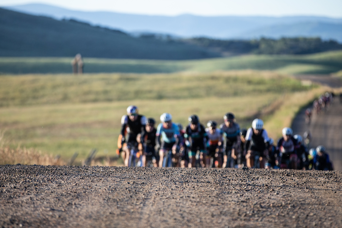 The majority of gravel bikes on course had tires in the 30 to 40mm range, offering the right balance of comfort and traction over loose gravel to rocky terrain. PC: Wil Matthews