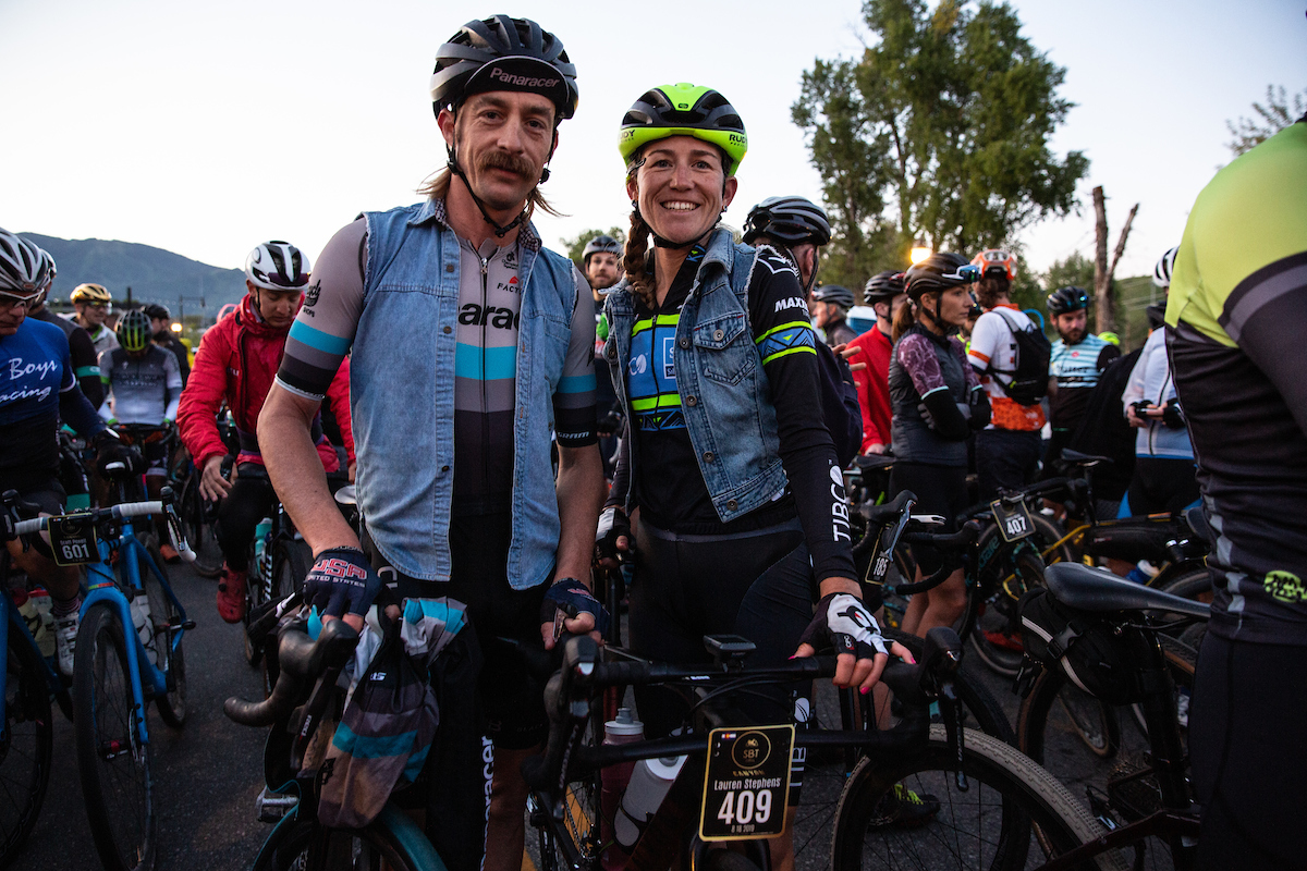 While many had something to say about the scheduling of SBT on the same weekend of Gravel Worlds, Mat Stephens couldn't get enough. After placing fourth in Lincoln, NE, Mat Stephens made the 9+ hour drive to Steamboat to line up with Lauren. This guy deserves a cowboy hat. PC: Wil Matthews