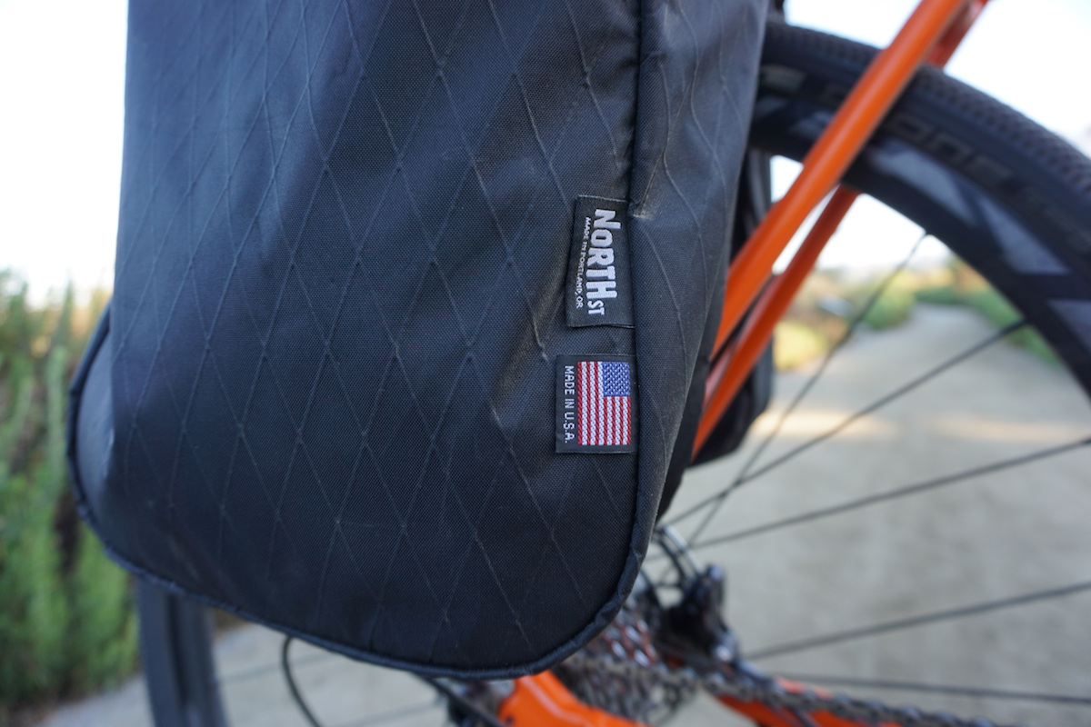 North St. Micro Pannier in black X-PAC