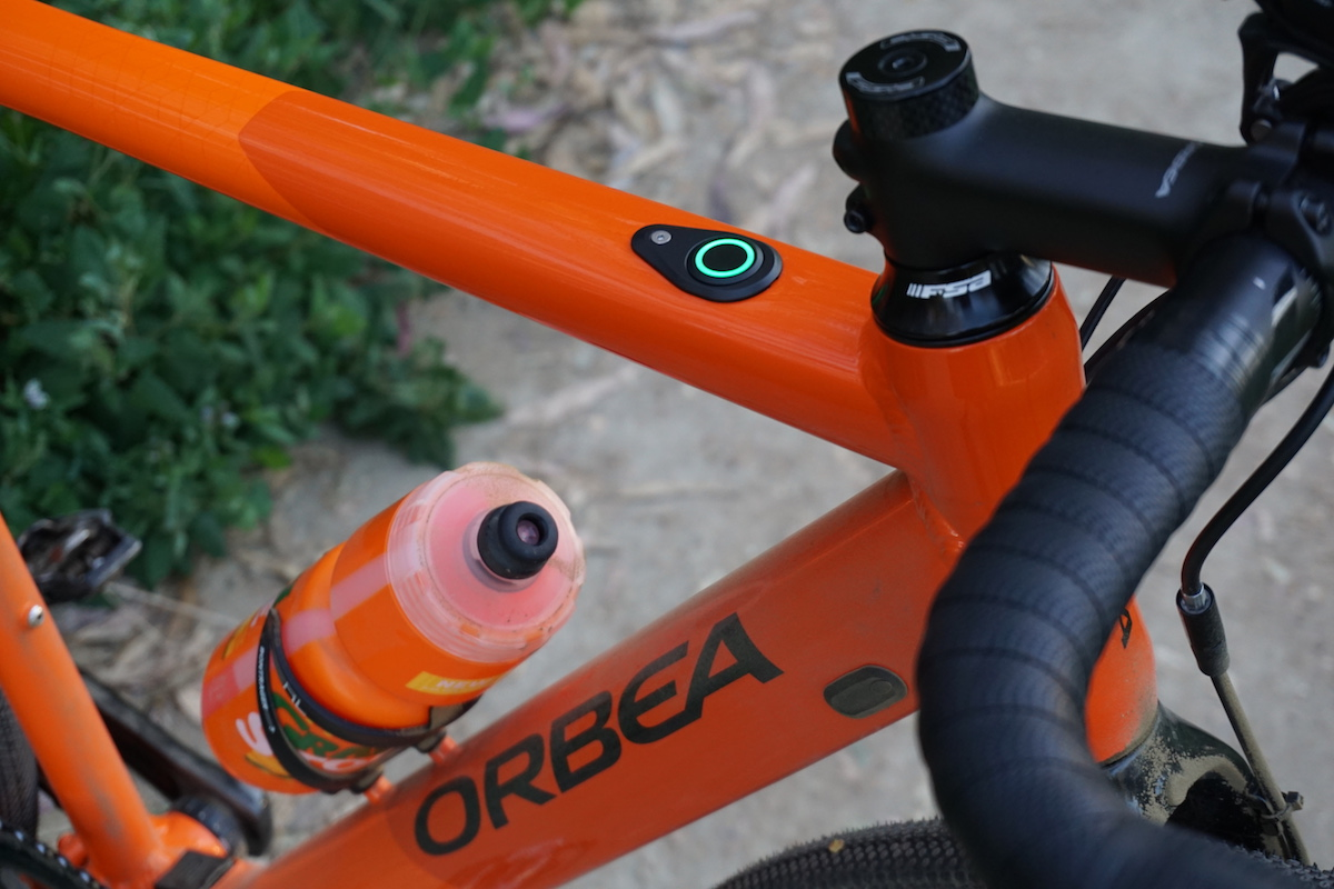 Power modes on the Gain are indicated with the minimal LED button on the bike's top tube