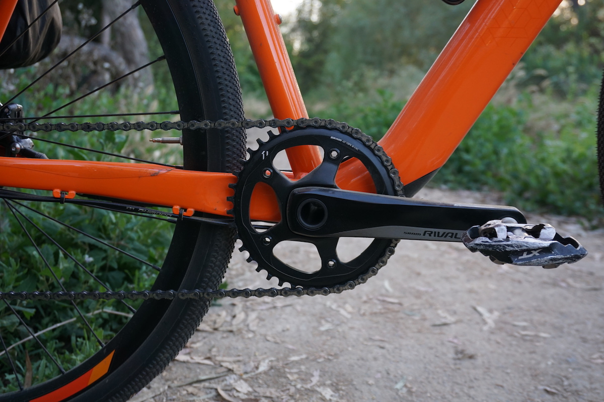 Front 40t Rival 1x chainring on the Gain All Road